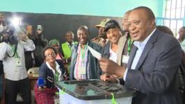Kenyan President Casts Vote as Opposition Boycotts Election