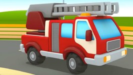 Car School- Fire Trucks Cartoon for Kids