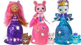 Play Doh Sparkle Princess Dresses Enchantimals Super Glitter Play Doh Toys For Kids