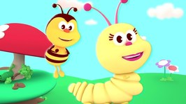 The Yellow Caterpillar Song - Kindergarten Music and Cartoons For Babies - Kids Channel