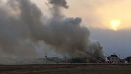 Japanese Military Helicopter Crash Sets Fire to Building in Saga