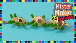 Bugs On A Stick - How To Make In 60 Seconds - Mister Maker