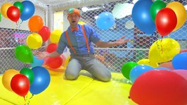 Blippi at the Indoor Playground to Learn Colors- Educational Videos for Toddlers