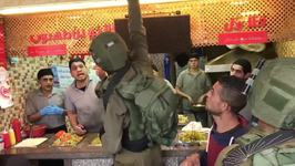 Israeli Soldiers Order Falafel Stand in Hebron to Close