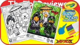 McDonalds Lego Ninajago Happy Meal Coloring Page Crayola Markers Unboxing Toy Review