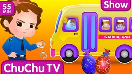 ChuChu TV Police Save School Children from Bad Guys in the School Van - ChuChu TV Surprise Eggs Toys