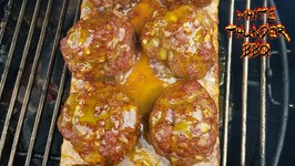 Honey Mustard And Onion Planked Meatballs-Meatball Madness