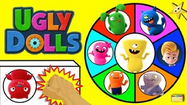 UGLY DOLLS MOVIE TOYS Spinning Wheel Game w/ Surprise Ugly Dolls Toys