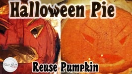 Halloween Pumpkin Pie Recipe From Old Jack O Lantern - Use your Halloween Pumpkin
