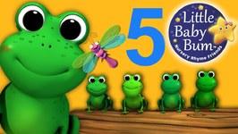 Five Little Speckled Frogs - Nursery Rhymes