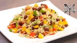Caribbean Black Bean Rice Salad -  Perfect BBQ Side Dish
