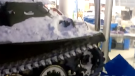 Armored Vehicle Driven Through Russian Storefront in Reported Robbery Attempt