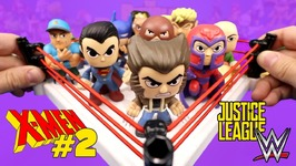 X-Men Shake Rumble Game 2 Vs Justice League Toys And Wwe Superheroes Mystery Minis Unboxing