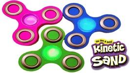Kinetic Sand DIY Rainbow Fidget Spinner Glow S