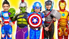 Avengers Infinity War Superhero Costume Runway Show Kids Videos Spiderman Iron Man Hulk Thor