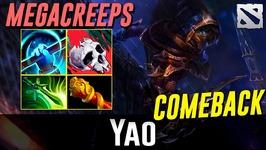 Yao PA Megacreeps Comeback Dota 2
