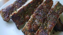 Garlic Crusted Lean and Green Recipe BBQ Ribs