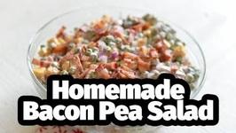 Homemade Bacon Pea Salad