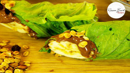 Healthy School Lunch Ideas - Lettuce Hazelnut Spread Banana Wrap