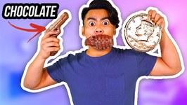 CHOCOLATE FOOD VS REAL FOOD 3 - Chocolate Gun, Grenade, Giant Penny