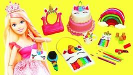10 DIY Miniature UNICORN  Barbie DOLL CRAFTS And Accessories - 2