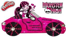 Play Doh Car- Monster High Dolls Car- Kids Learning Video Easy Diy For kids