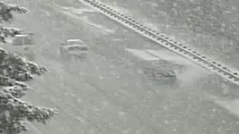 Picturesque Snow Falls Across Everett as Officials Urge Caution on Roads
