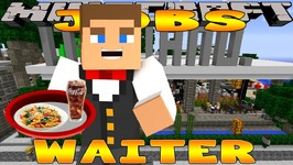 Minecraft - Little Donny Adventures - WAITER JOB IN ITALIAN RESTAURANT w/ Donut The Dog