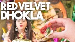 Red Velvet Dhokla - Savory Semolina Cake