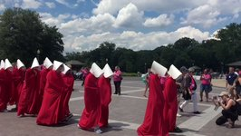 Planned Parenthood Holds Handmaid's Tale-Inspired Protest at US Capitol