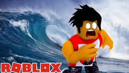 ROBLOX NATURAL DISASTER - CAN DONUT SURVIVE THE GIANT TSUNAMI SUPER WAVE?