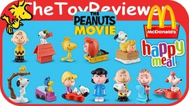 a6ae91d37e 2015 The Peanuts Movie McDonalds Happy Meal Toys COMPLETE 12 Unboxing