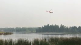 Firefighters Battle Fire Near Williams Lake