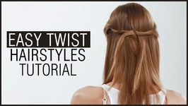 Easy Twist Hairstyle Tutorial In 2 Minutes - Side Twist