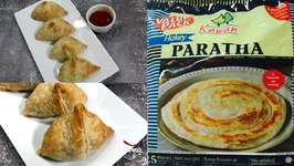 Crispy Flakey Baked Samosa Made with Kawan Frozen Paratha Video Recipe