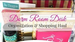 Dorm Room Desk Organization & Shopping Haul