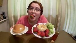 BBQ Pork Bun, Egg Tart, Strawberries And Grapes -Gay Family Mukbang- Eating Show