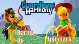 My Little Pony Guardians of Harmony Daring Do Dazzle and Applejack Toys and Figures