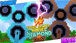 Minecraft DIAMOND FIDGET SPINNER HOUSE VS DIRT FIDGET SPINNER HOUSE!!