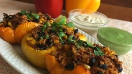 Sam's Taco Crumbles-Stuffed Peppers