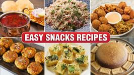 Easy Snacks Recipe  Instant Snacks For Kids  Dadpe Pohe  Misal  Dhokla