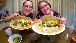 Make Your Own Falafel Wrap /Gay Family Mukbang - Eating Show