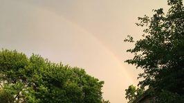 Rainbow Appears Amid Oklahoma Severe Storms