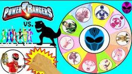 Power Rangers Vs Dinosaurs Game  Power Rangers Movie   Dinosaur Surprise Toys Slime Wheel Games