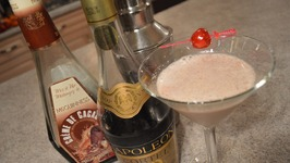 Lady Apple And Haskap Brandy Alexander Cocktail