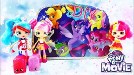 My Little Pony Movie Art Suitcase Activity Set With Shopkins World Vacation Shoppies Traveling
