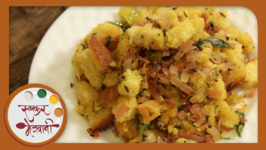 Bread Upma - Recipe From Leftover Bread - Quick Breakfast By Archana In Marathi