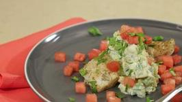 Halibut With Watermelon Tzatziki