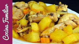 Pollo a la campesina, recetas para dieta  Recetas de Javier Romero