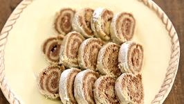 Kaju Chocolate Roll  Easy To Make Indian Sweet Dessert  Recipe by Archana in Marathi